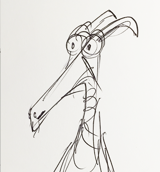 D23 member sketch of early Figment character