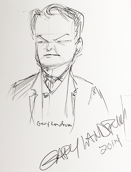 Sketch of Imagineer Gary Landrum