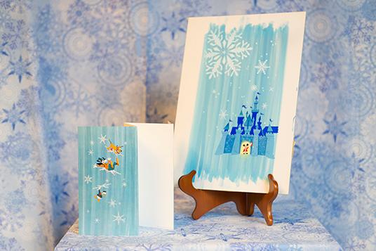 Original Christmas card artwork for The Walt Disney Studios from 1965
