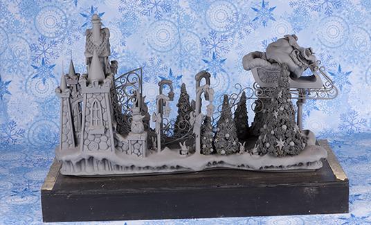 Miniature model of Disneyland Christmas Fantasy Parade