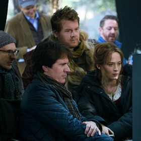 Rob Marshall and James Lapine on the set of Into the Woods