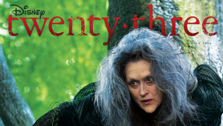 Meryl Streep on the cover of D23 for Into the Woods