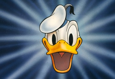 illustrated head of Donald Duck wearing sailor's cap