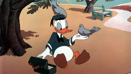 Donald Duck as a Birdfeeder (The Trial of Donald Duck, 1948)