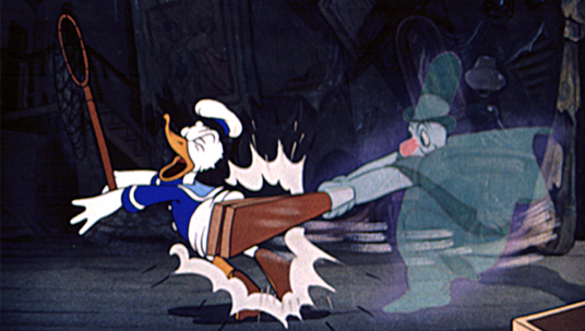 Donald Duck as a Paranormal Investigator (Lonesome Ghosts, 1937)