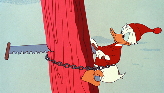 Donald Duck as a Logger (Up a Tree, 1940)
