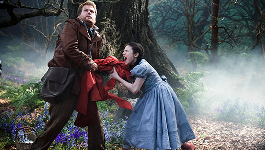 The Baker and Little Red Riding Hood in Into the Woods
