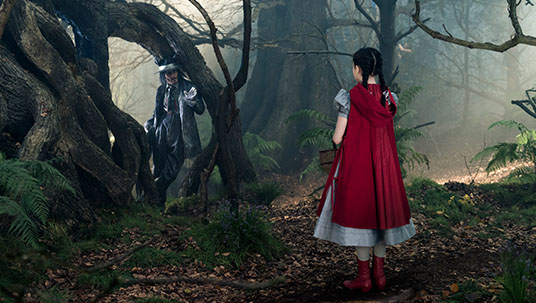 Little Red Riding Hood and the Wolf in Into the Woods