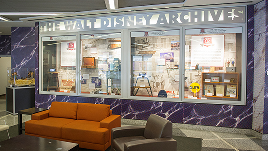 The 75th anniversary of The Walt Disney Studios in Burbank is celebrated in two all-new displays at the Disney Studio lot.