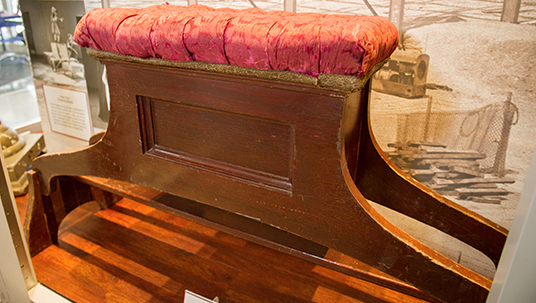 Organ bench used by Captain Nemo (James Mason) in 20,000 Leagues Under the Sea (1954).