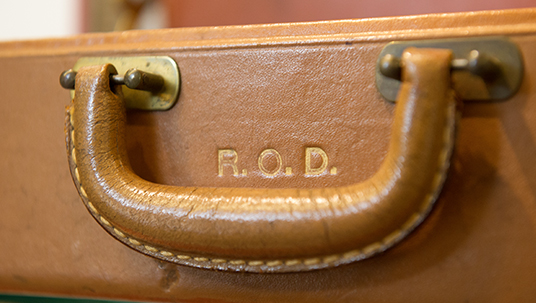 Briefcase from the office of company co-founder Roy O. Disney.