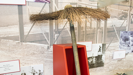 A chimney sweep's broom head used in Mary Poppins (1964), which was filmed entirely in the Studio's soundstages.