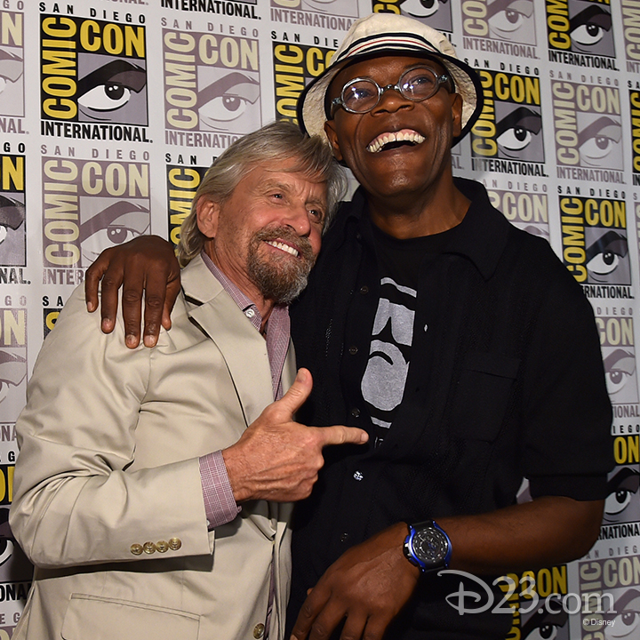 Michael Douglas and Samuel L. Jackson at Comic Con