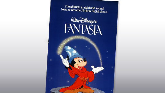 With the re-recording of Fantasia in 1982, first film recorded in digital sound.