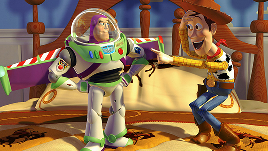 First full-length computer-generated animated feature, Toy Story