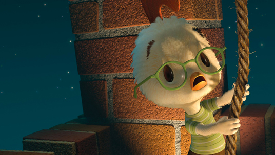 First 3-D digital-cinema theatrical release, Chicken Little.