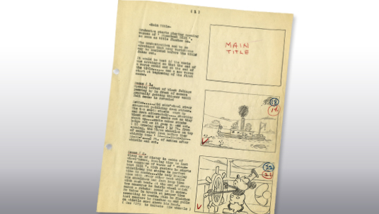 photo of storyboard page
