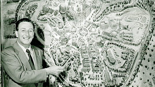 "First ""theme park"" with Disneyland, Walt created the first outdoor entertainment center for the entire family."