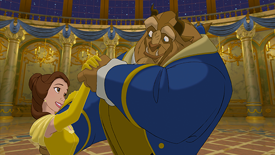 If you're inspired by Belle and the Beast (Beauty and the Beast):