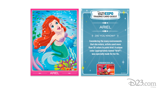 Ariel Trading Card Front and Back