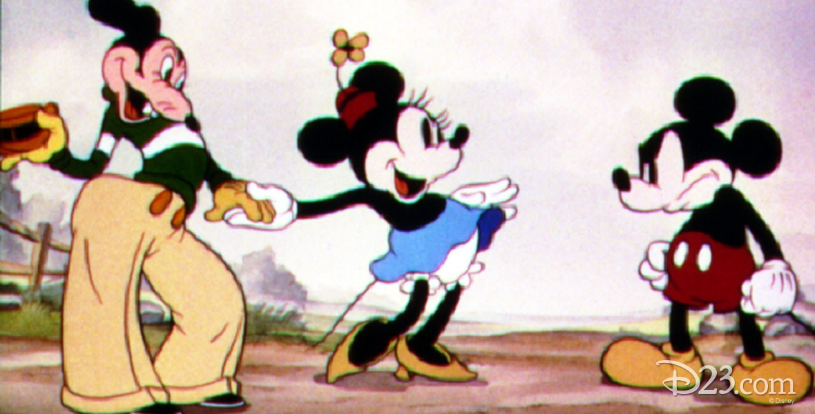 Photo of Mickey and Minnie in animated Disney film Mickey's Rival