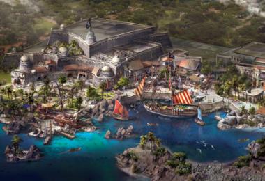 Artist of rendering Treasure Cove at Shanghai Disney Resort
