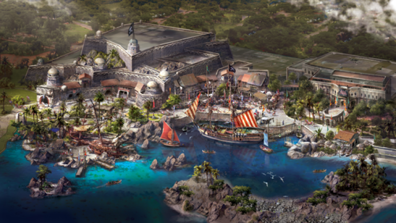 Artist of rendering Treasure Cove at Shanghai Disney Resort