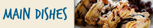 Banner for Main Dishes Recipes