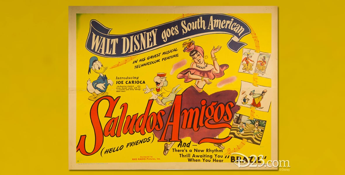 Poster for Disney Animated Film Saludos Amigos