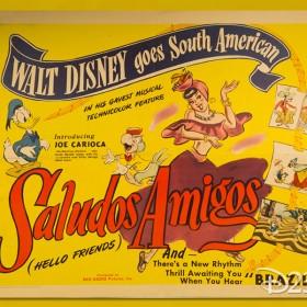 Poster for Disney Animated Film Saludos Amigos