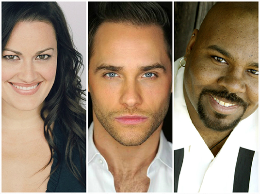 From left to right: Ashley Brown, Josh Strickland, and James Monroe Iglehart.