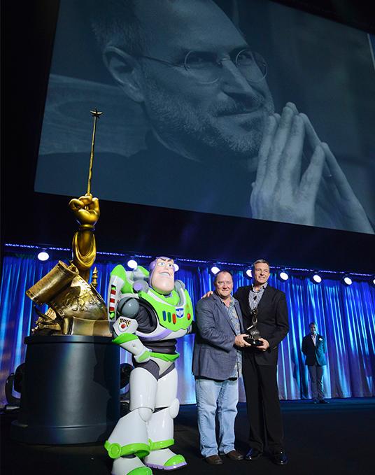 John Lasseter's moving tribute to Steve Jobs at Disney Legends (2013)