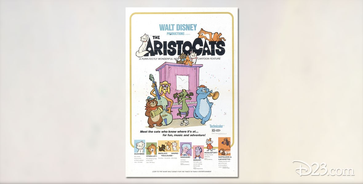 Poster for Disney Animated Film The Aristocats