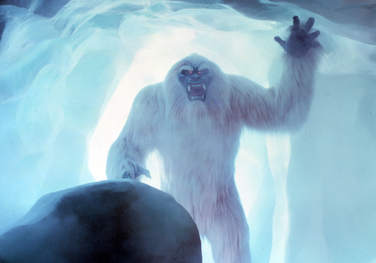photo of large robotic yeti snow monster in ice cave of Matterhorn Bobsleds attraction at Disneyland