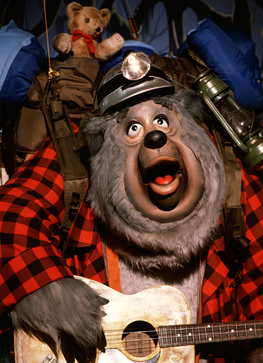 photo of guitar-playing Audio-Animatronics bear from Country Bear Jamboree at Magic Kingdom