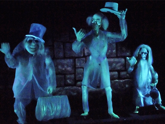 photo of three ghostly hitchhikers