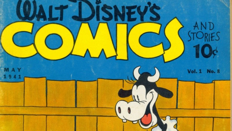 illustrated cover of Walt Disney Comics book