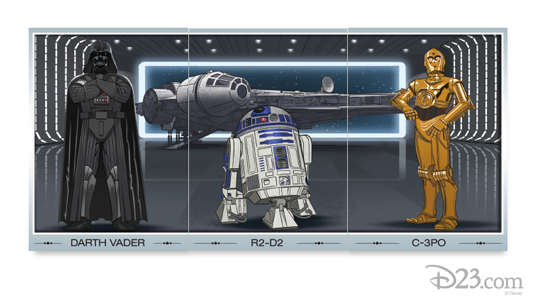 Darth Vader, R2-D2 and C-3PO Trio