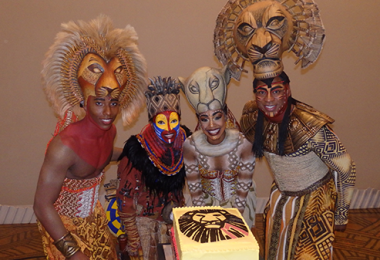 Performers from The Lion King