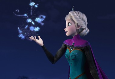Elsa singing Let it Go
