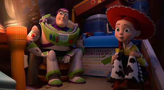 Buzz Lightyear and Jessie in Toy Story