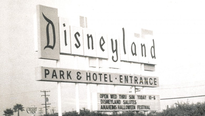 The Disneyland marquee salutes the Anaheim Halloween Parade and Festival.