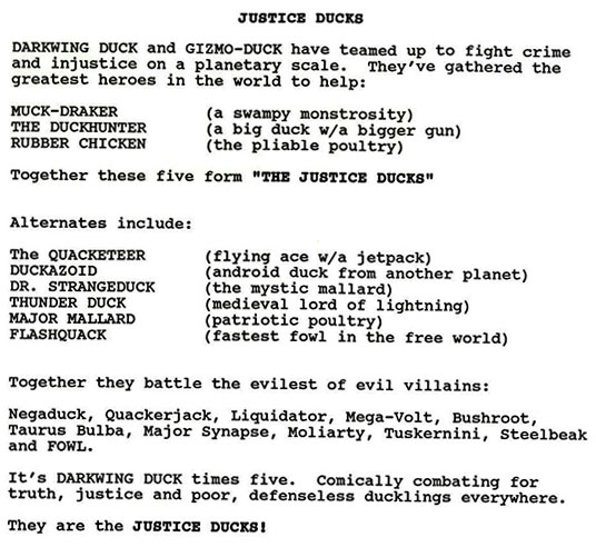 Justice Ducks Script