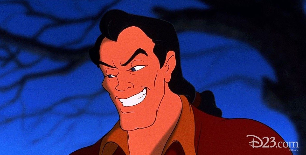Disney animated character Gaston from Beauty and the Beast