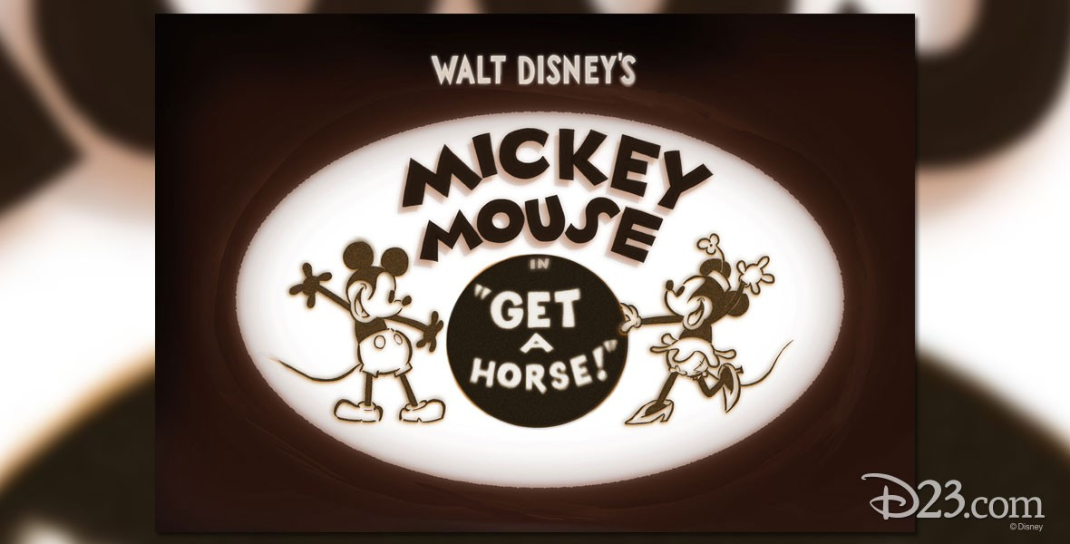 Mickey and Minnie Mouse in Disney Film Get a Horse!