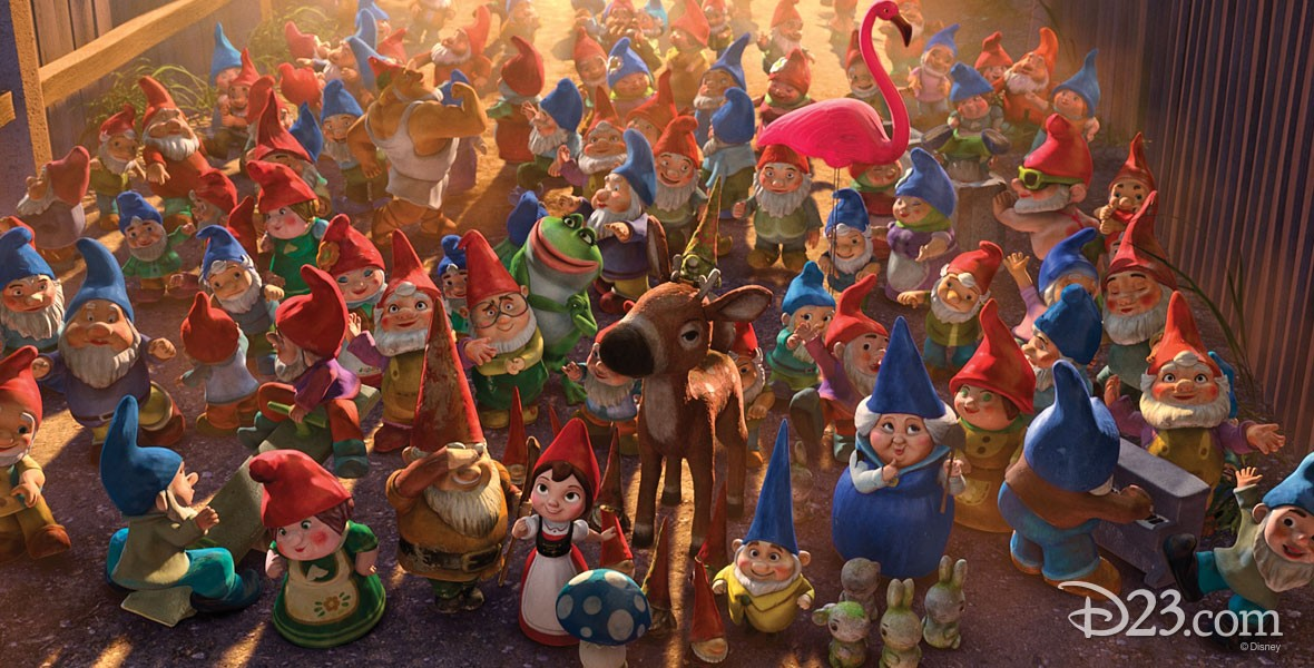 Gnome party in Disney film Gnomeo & Juliet