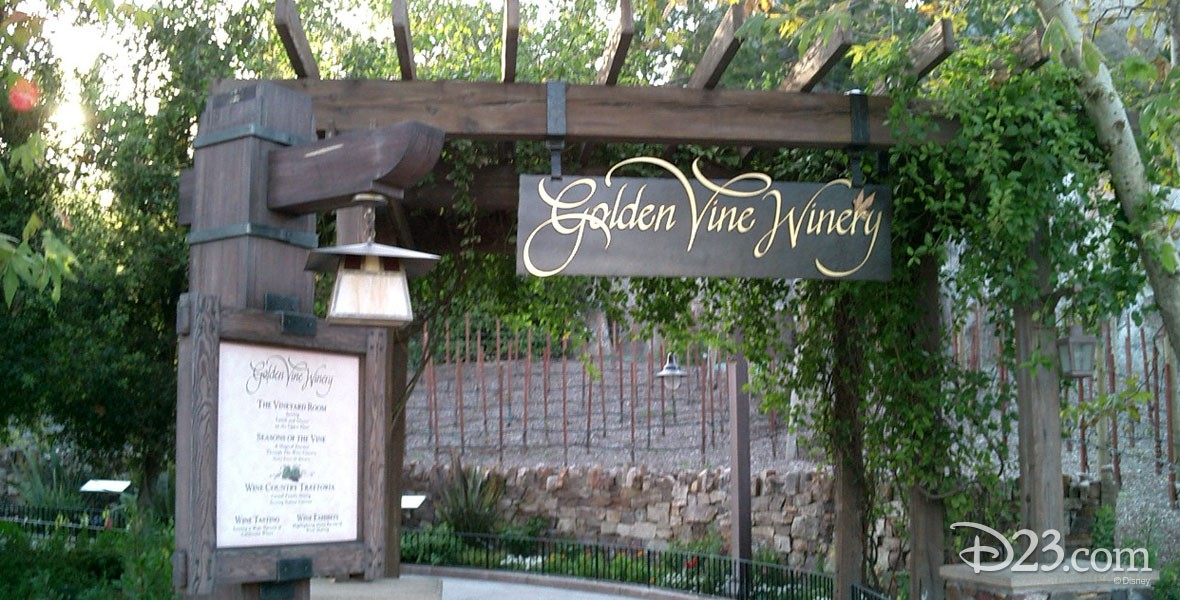 Golden Vine Winery Area in Golden State at Disney California Adventure