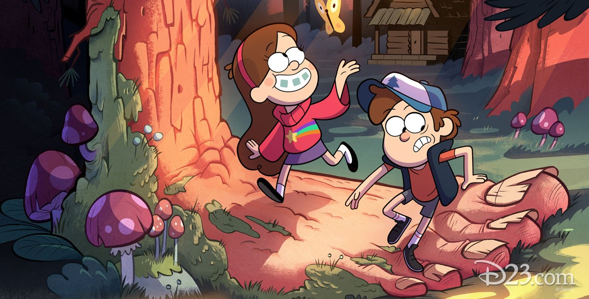 Dipper and Mabel Pines from Disney Channel Gravity Falls Animated series