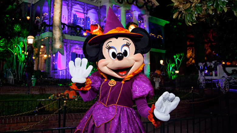 Halloween with Minnie Mouse at the Disneyland Resort