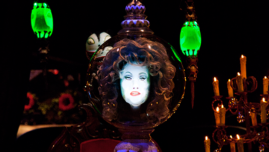 Haunted Mansion Holiday is inspired by the classic animated film Tim Burton's Nightmare Before Christmas